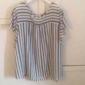 Black & White chiffon blouse - Torrid